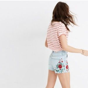 Madewell Perfect Jean Shorts: Embroidered Edition
